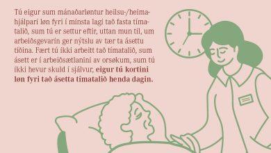 Photo of Tú eigur altíð løn fyri ásetta tímatalið